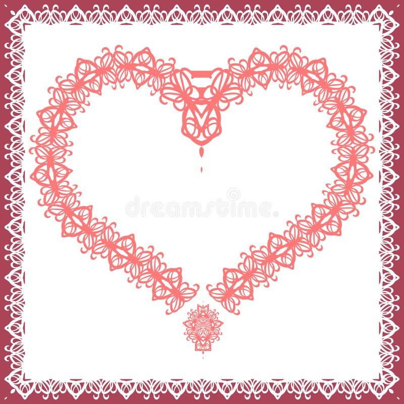 Schablone für Valentinsgrußtageskarte, Einladung, Glückwunschkarte mit lizenzfreie stockfotografie