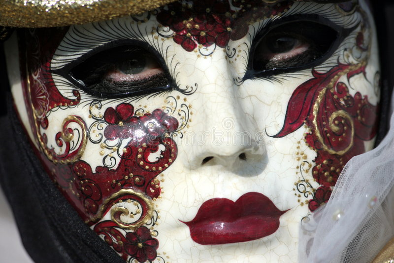 Schablone im Venedig-Karneval stockbild