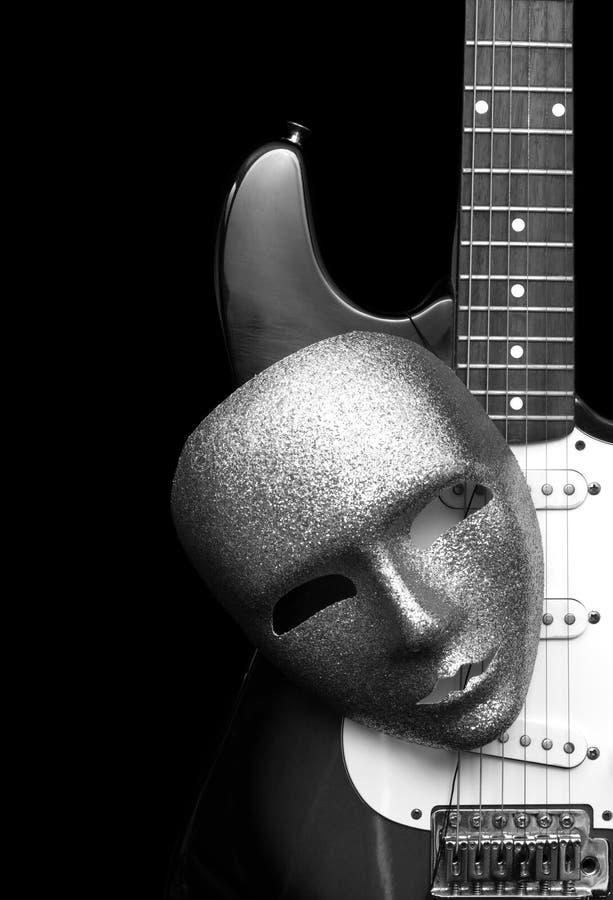 Schablone und Gitarre stockfoto