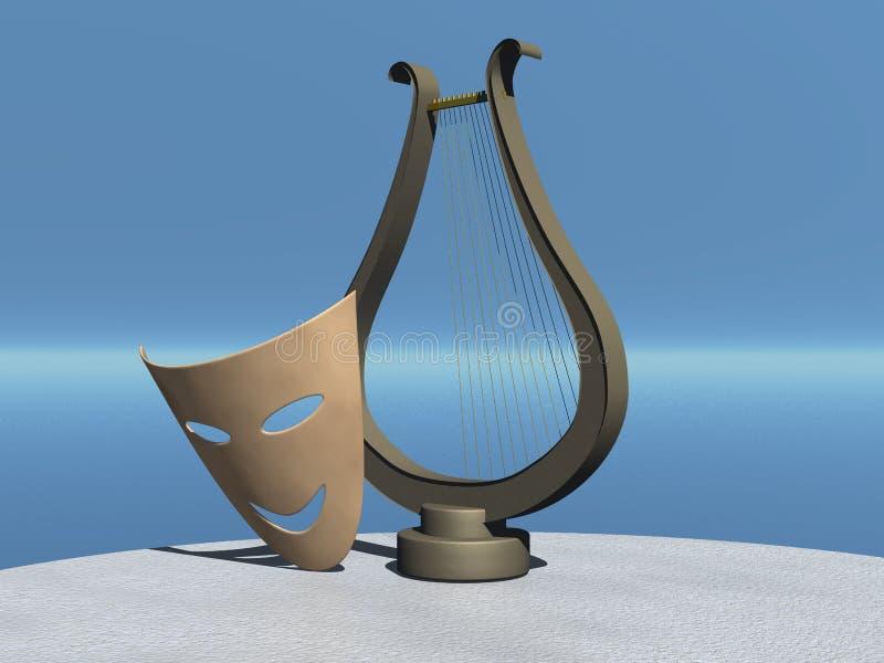 Schablone und Lyre vektor abbildung