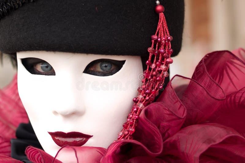 Schablone am Venedig-Karneval stockfotos