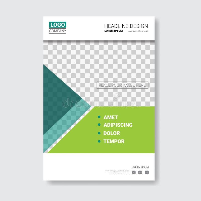 Schablonen-Design-Broschüre, Jahresbericht, Zeitschrift, Plakat, Unternehmensdarstellung, Portfolio, Flieger mit Kopien-Raum lizenzfreie abbildung