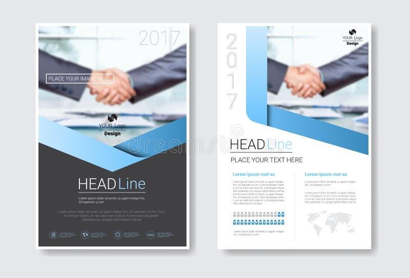 Schablonen-Design-Broschüren-Satz, Jahresbericht, Zeitschrift, Plakat, Unternehmensdarstellung, Portfolio, Flieger-Sammlung mit stock abbildung