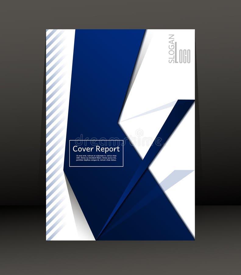 Schablonen-Design für Abdeckungs-Bericht Flieger Plakat in der Größe A4 vektor abbildung