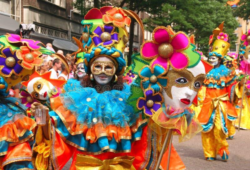 Schablonen am Karneval stockfoto