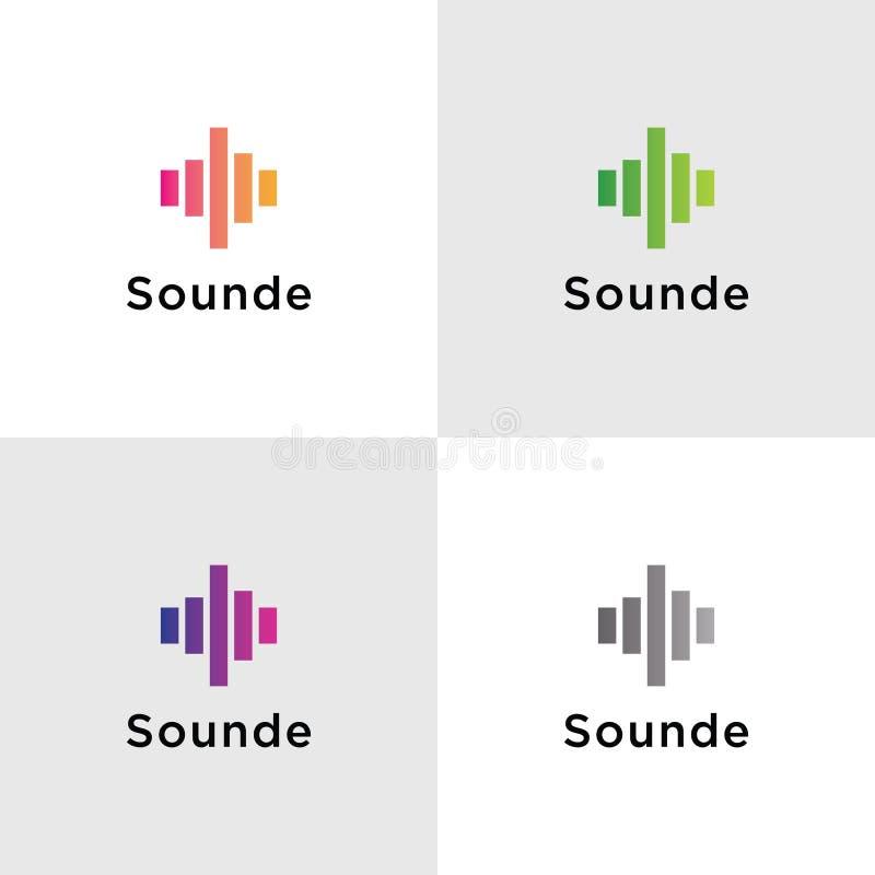 Schablonen-solide Logos stock abbildung
