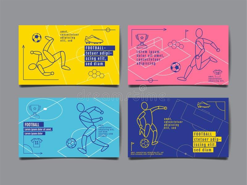 Schablonen-Sport-Plan-Design, flaches Design, einzelne Zeile, Grafik stock abbildung