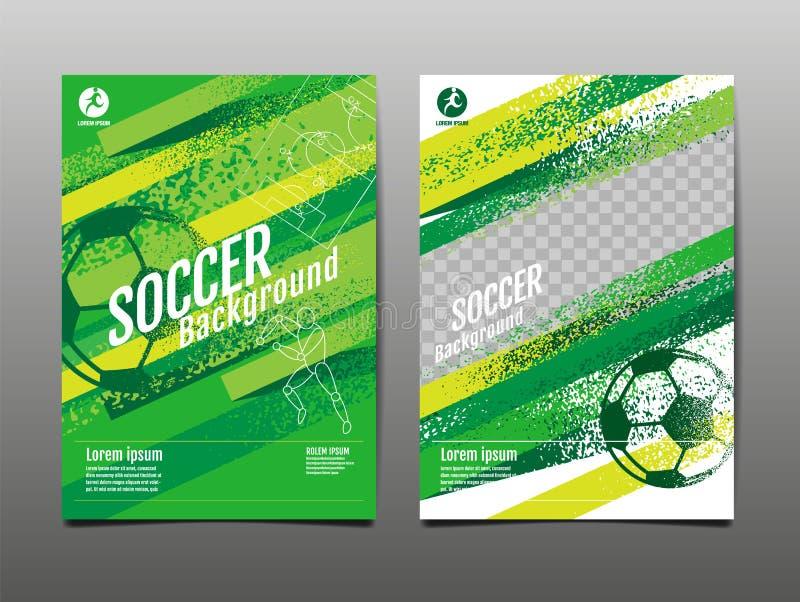 Schablonen-Sport-Plan-Entwurf, Schmutz Entwurf, Bürste, Geschwindigkeit, grafische Illustration, Fußball, Fußball, Vektor-Illustr vektor abbildung