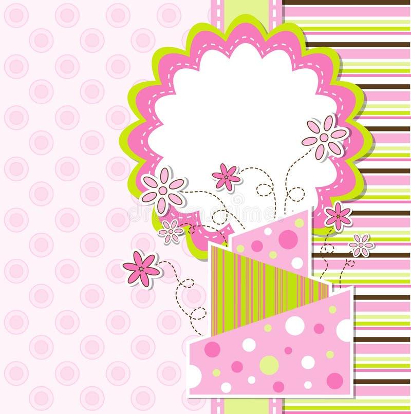 Schablonengrußkarte,   lizenzfreie abbildung