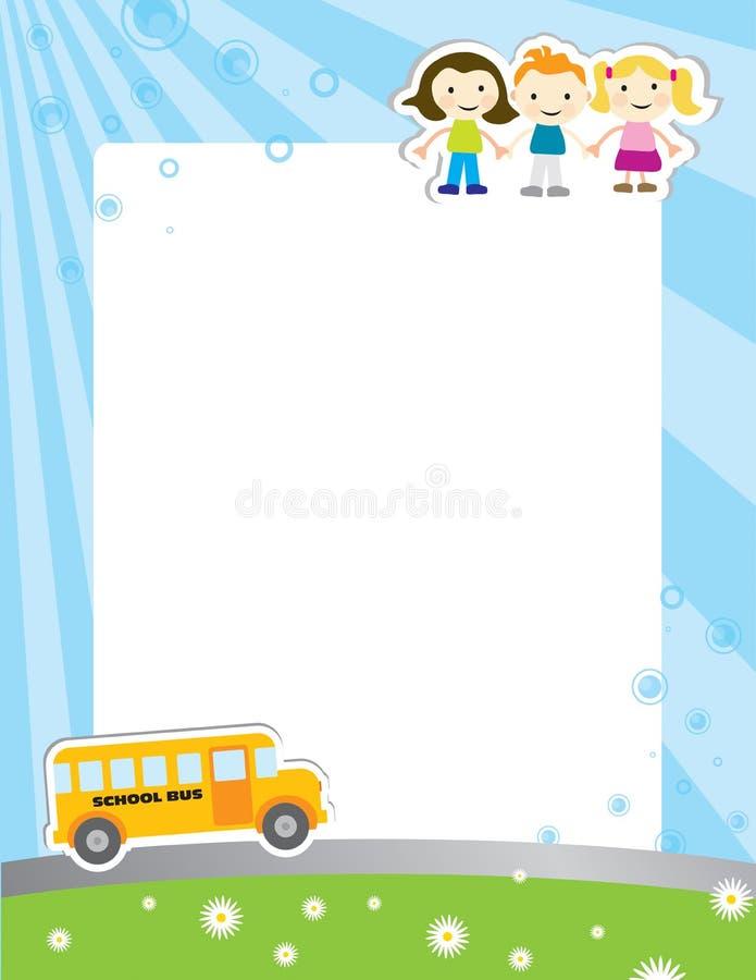 Schablonenhintergrund für Schuleplakat vektor abbildung