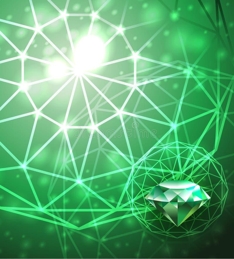 Hintergrund mit Smaragd stock abbildung
