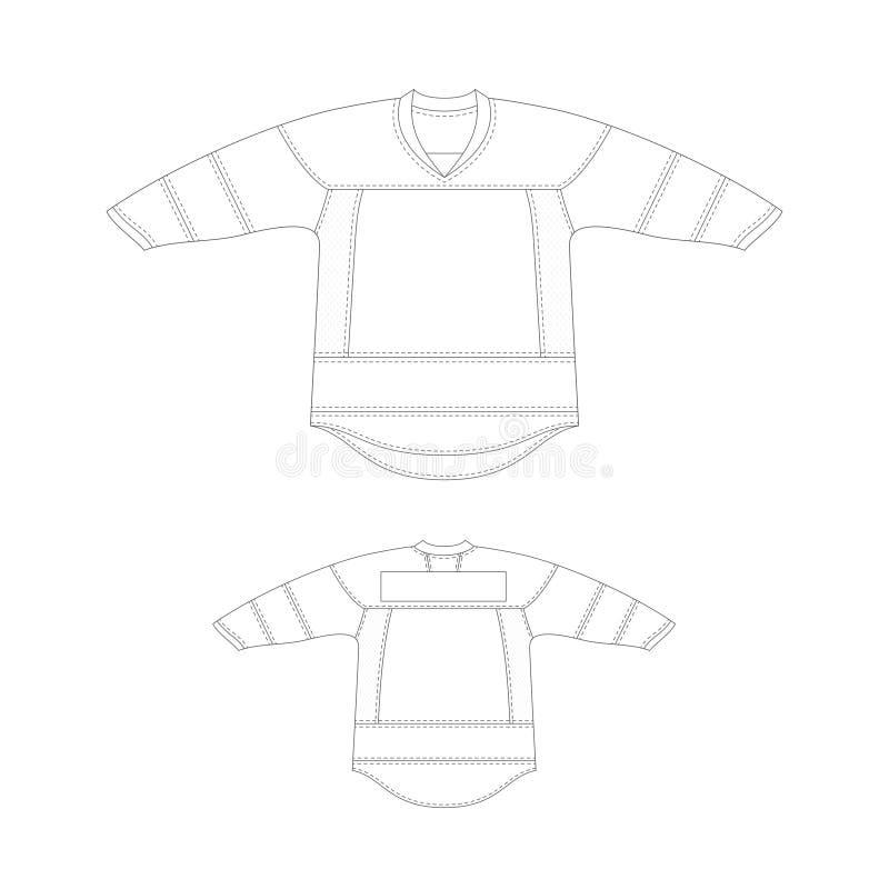 Schablonenhockey-Trikotentwurf stock abbildung