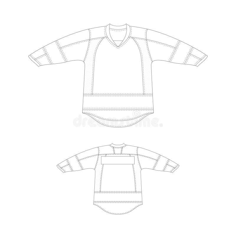 Schablonenhockey-Trikotentwurf lizenzfreie abbildung