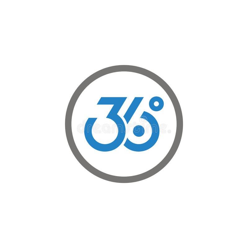 Schablonenillustration mit 360 Logos lizenzfreie abbildung