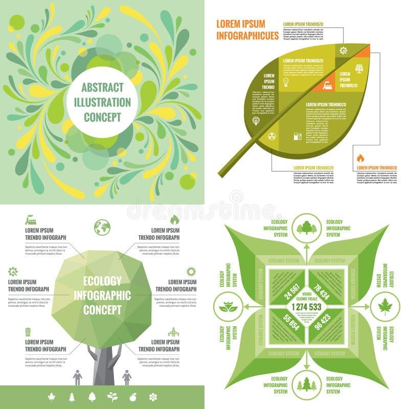 Schablonenkonzept-Vektorillustration des Geschäfts infographic Abstraktes Fahnenset Werbungsförderungs-Plansammlung stock abbildung