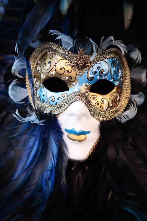 Schablonenportraitkarneval von Venedig Italien stockfoto