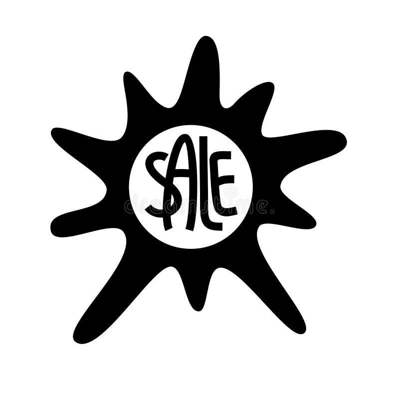 Schablonenvektor-Fleckikone für Verkauf lizenzfreie abbildung