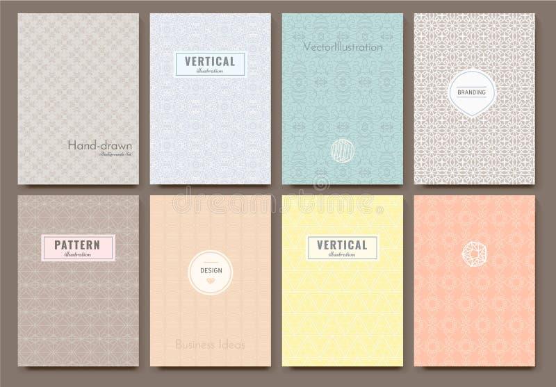 Schablonenvektorkarten lizenzfreie abbildung