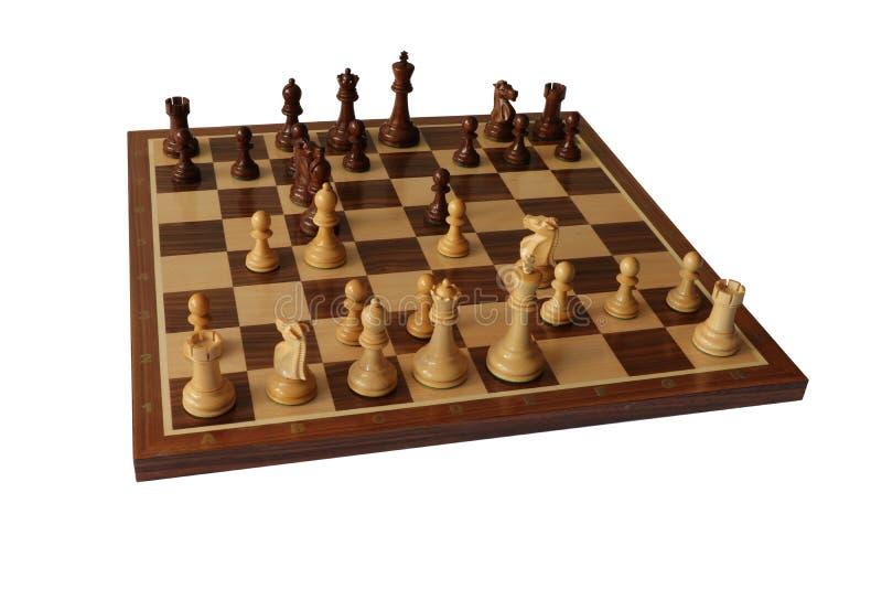 Schachöffnung Evans Gambit stockbild