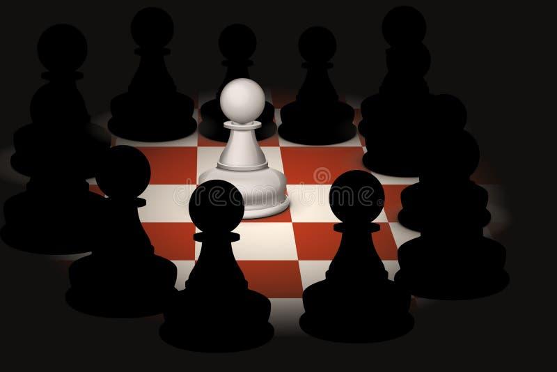 Schach 4 lizenzfreie abbildung