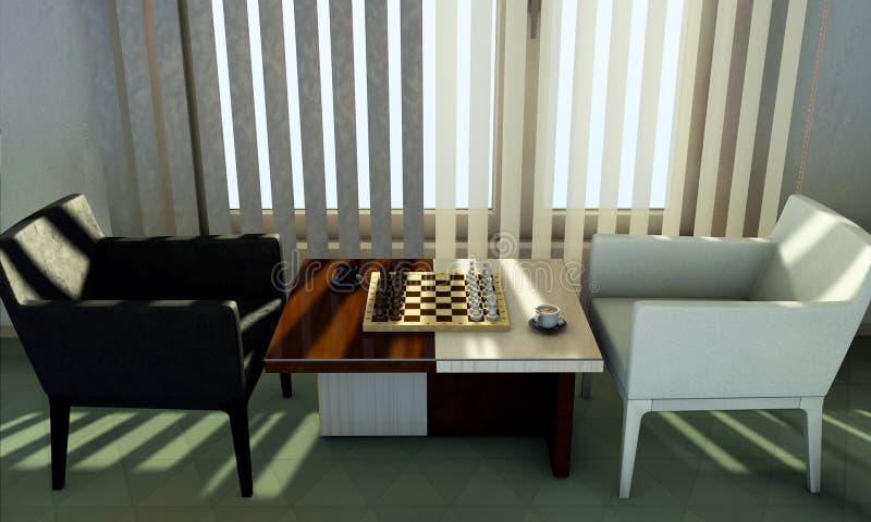 Schach auf Tabelle lizenzfreies stockfoto