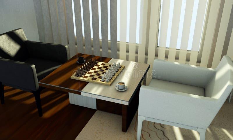 Schach auf Tabelle stockfotos
