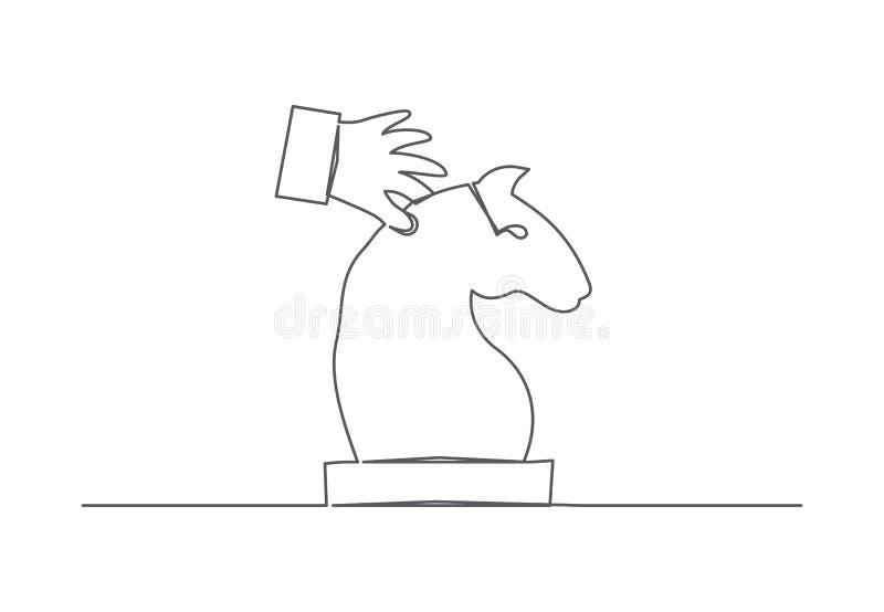 Schach ein Federzeichnung lizenzfreie abbildung