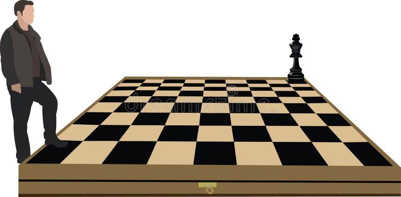 Schach-Herausforderung lizenzfreie abbildung