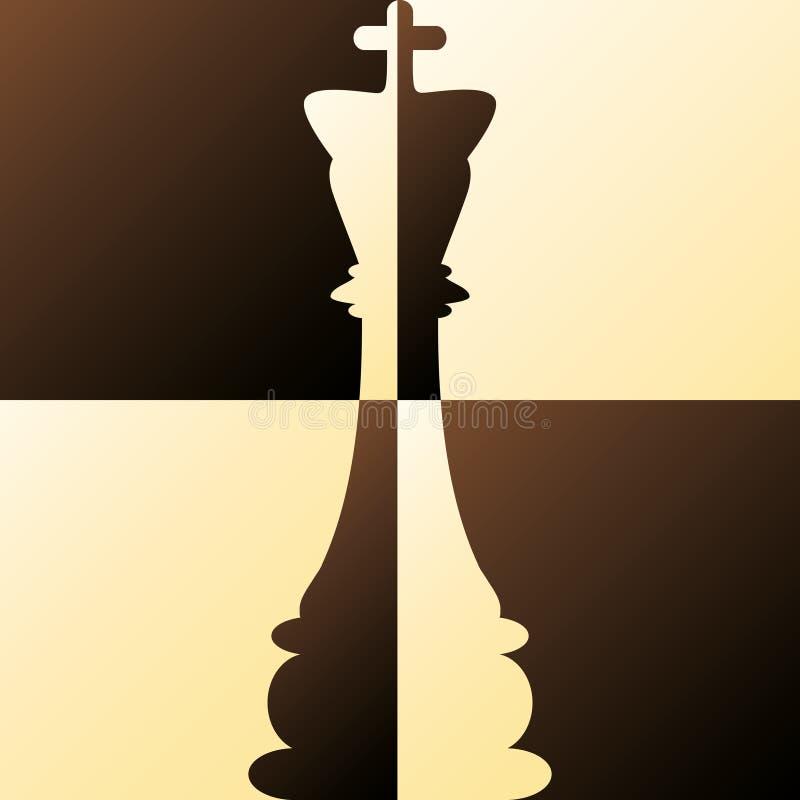 Schach-König stock abbildung