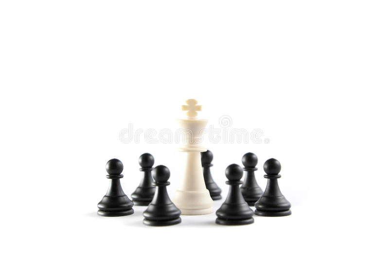 Schach-König Rounded Up lizenzfreie stockbilder