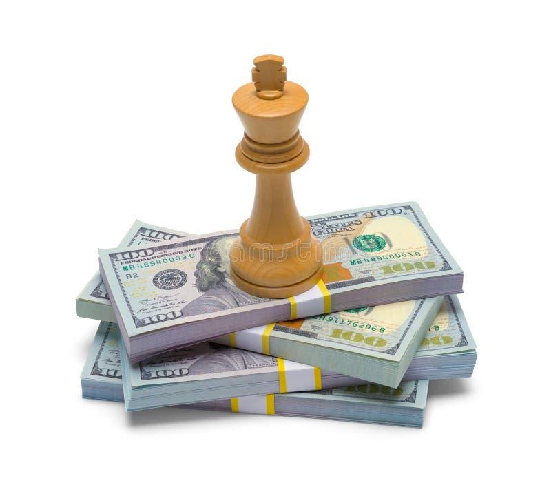 Schach-König und Geld stockbilder