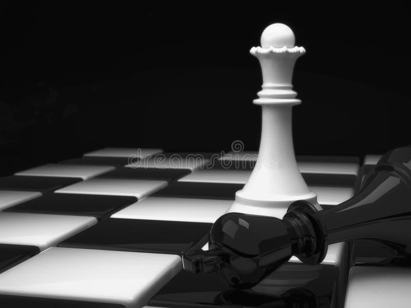 Schach-Königin stock abbildung