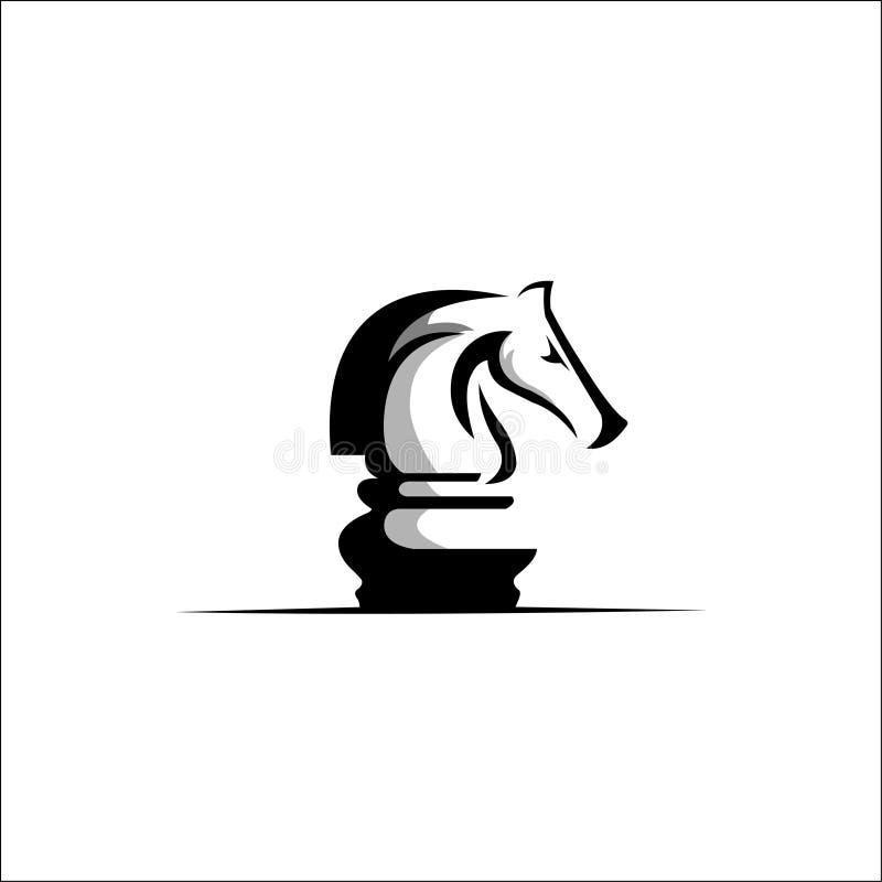 Schach-Logo Design-Vektor vektor abbildung