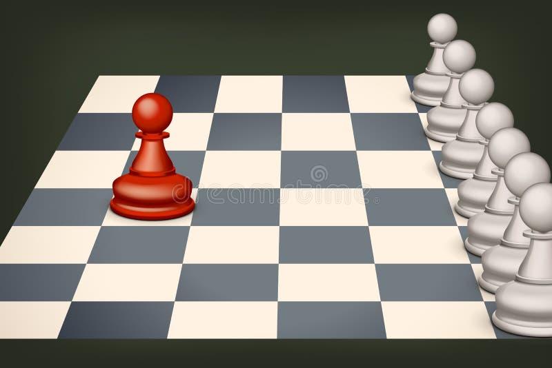 Schach mit Rot stock abbildung