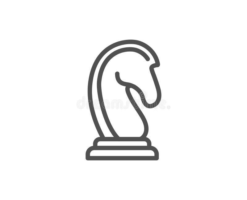 Schach-Ritterlinie Ikone Marketingstrategie lizenzfreie abbildung