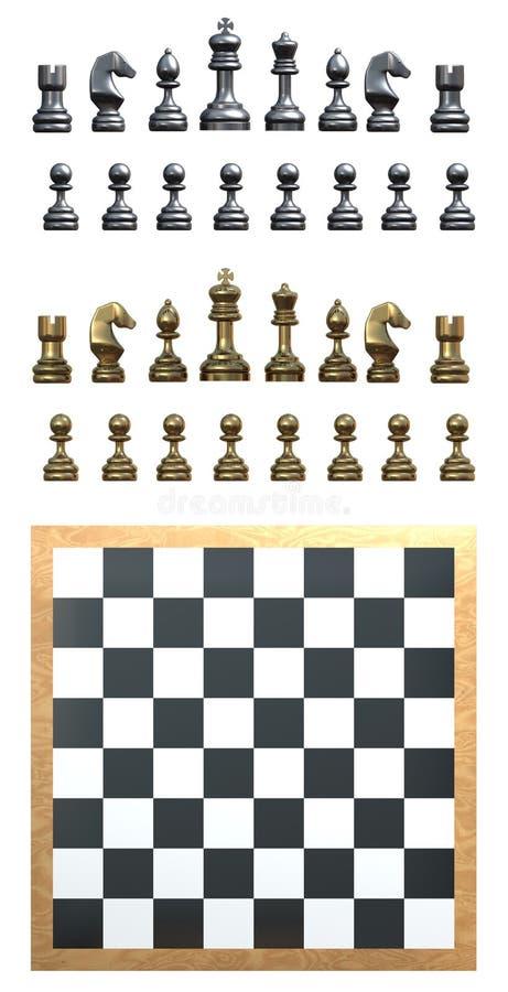 Schach-Set stock abbildung