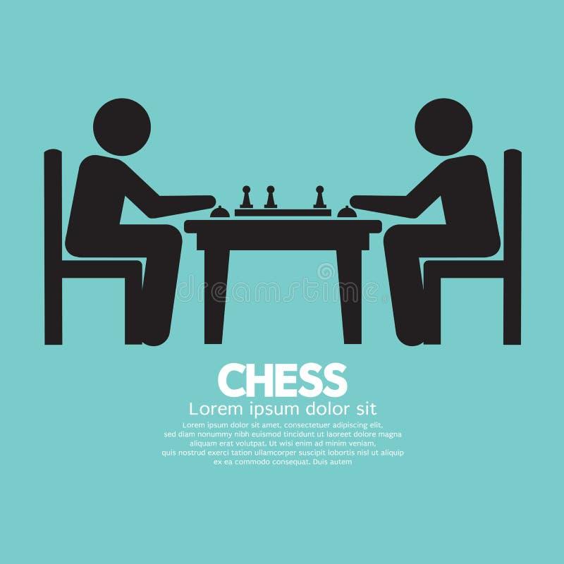 Schach-Spieler-Zeichen lizenzfreie abbildung