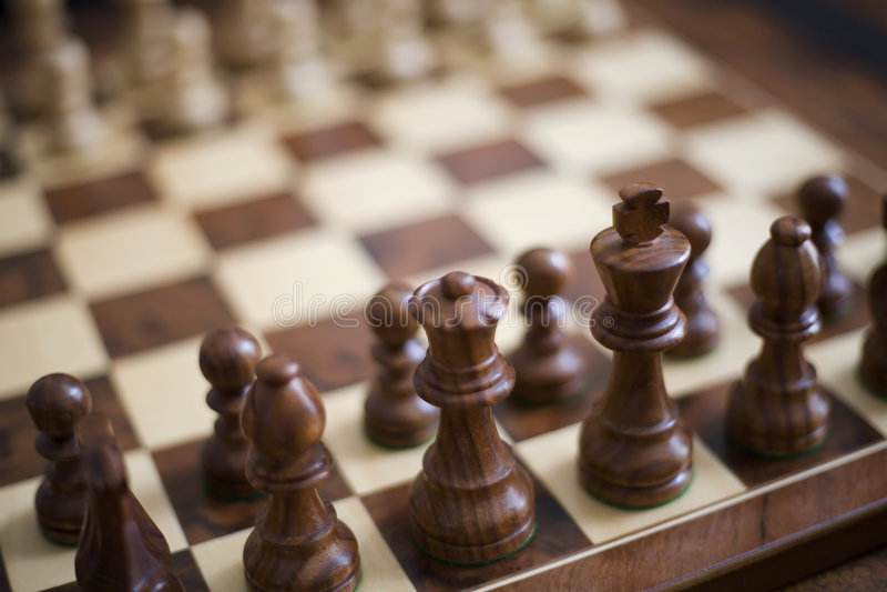 Schach-Stücke stockbild