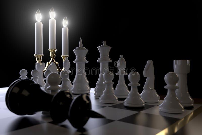Schach und Kerzen vektor abbildung