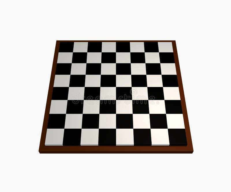 Schach-Vorstand stock abbildung