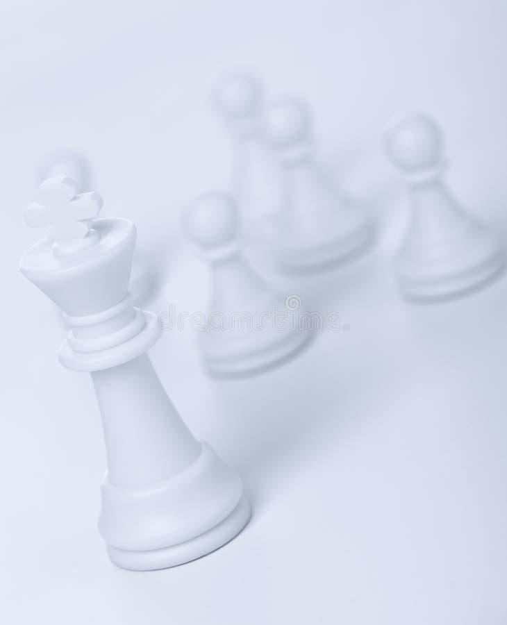 Schachabbildung - König stockfotos