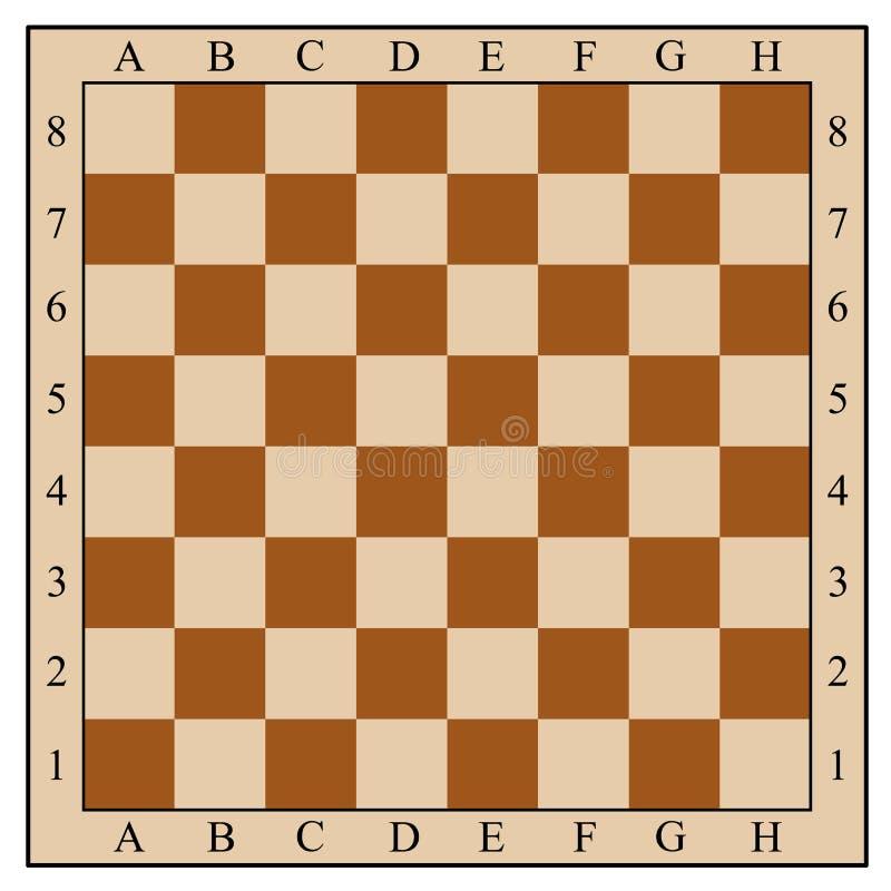 Schachbrett ohne Schachfiguren lizenzfreie abbildung