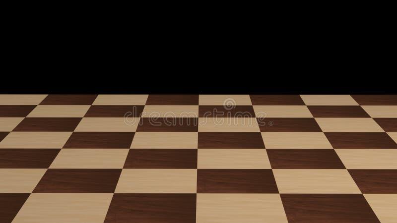 Schachbrett ohne Stücke lizenzfreie abbildung