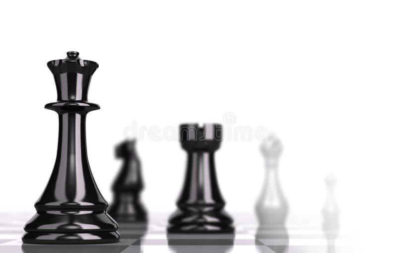 Schachbrett-strategisches Geschäfts-Konzept stock abbildung
