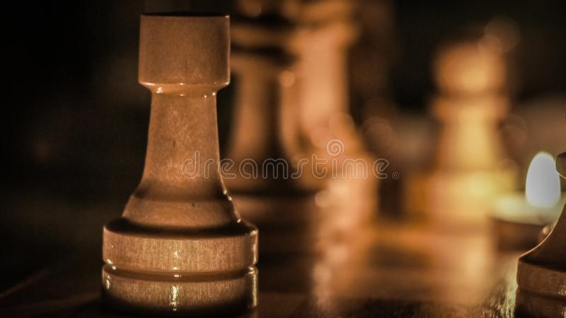 Schachfigur stockfotografie