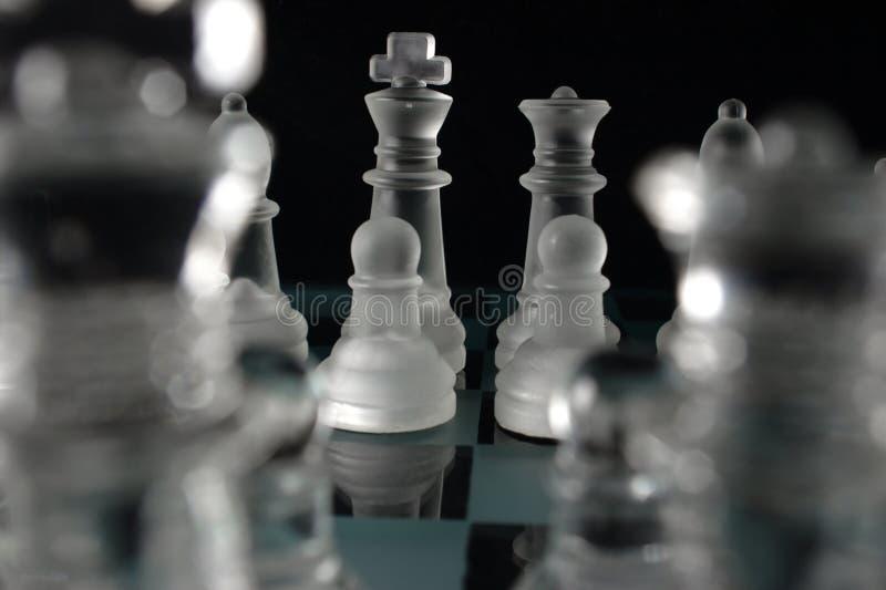 Schachfiguren stockfotografie