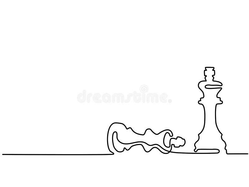 Schachfiguren Königin und König lizenzfreie abbildung