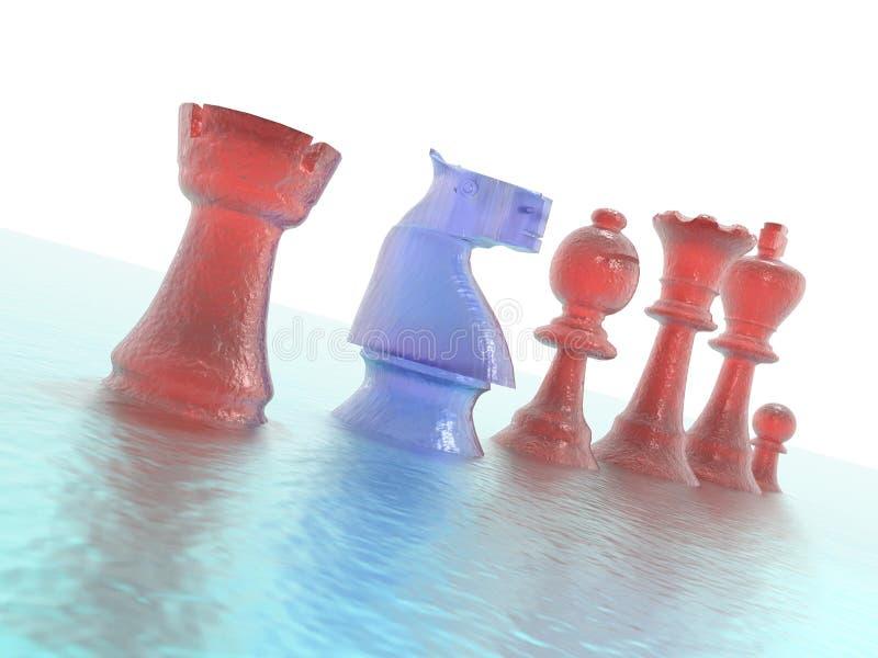 Schachfigurnahaufnahme lizenzfreie stockfotos