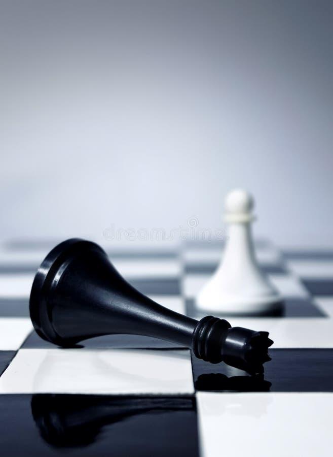 Schachkönig ist tot stockfotografie