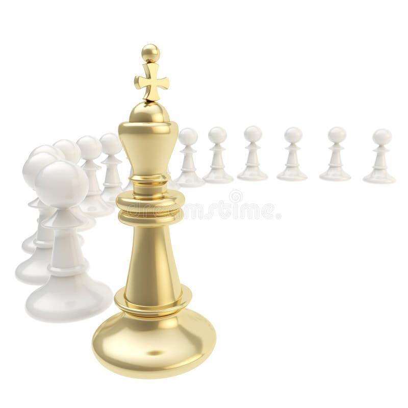 Schachkönig und Pfandzusammensetzung lokalisiert vektor abbildung